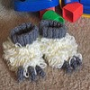 Abominable Baby Slippers free crochet pattern