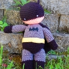 my hero batman superhero crochet pattern