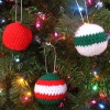 Christmas Ball Ornaments free crochet pattern