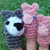 Huff and Puff Puppets free crochet pattern