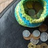 Hundred Yen Pouch free crochet pattern