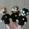 pocket potter puppet pals free crochet pattern finger puppets ron hermione harry potter