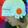 Rainy Daisy Cloche free crochet pattern