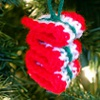 Ribbon Candy Ornament free crochet pattern
