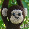 silly monkey stuffed toy crochet hat pattern