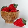 easy peasy strawberries free crochet pattern