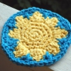 Sunny Day Coaster free crochet pattern