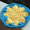 Sunny Day Coaster free crochet pattern
