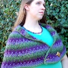 water lily wrap free crochet shawl pattern
