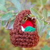 Yarn Basket Ornament free crochet pattern