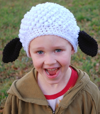 baa baa free sheep hat crochet pattern