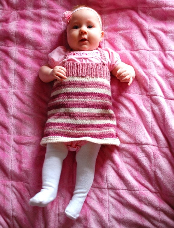 Candy Striper Jumper free baby knitting pattern