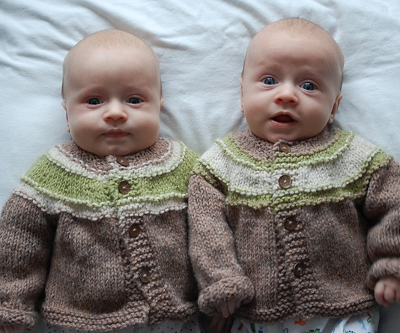 Concentric Stripes Baby Cardigan Free Knitting Pattern Inner Child