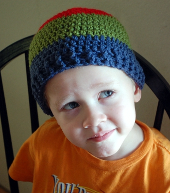 cool hat free crochet beanie pattern