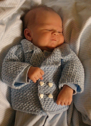 David Baby Peacoat Free Crochet Pattern - Inner Child Crochet