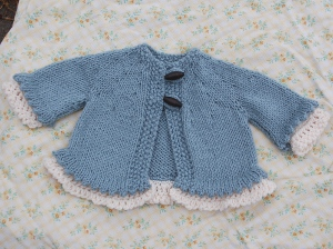 Little Miss Madeline baby cardigan free knitting pattern