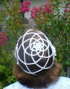renaissance rose cap free crochet hat pattern