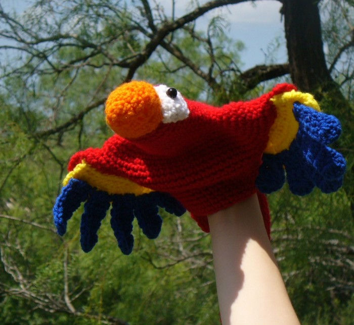 ChemKnits: Butterfly Finger Puppet Knitting Pattern