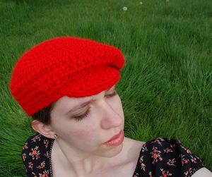 saucy crochet newboy beret slouch hat crochet pattern