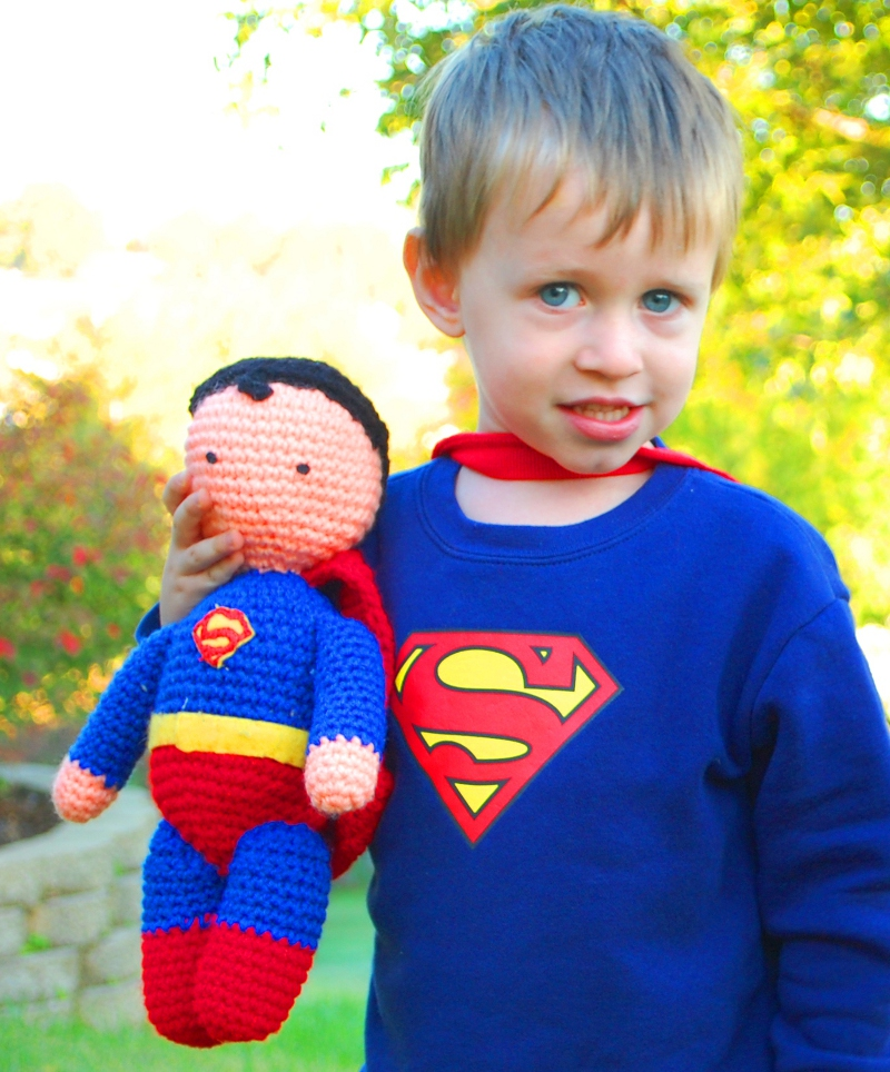 Knitting Pattern Superman Doll : My Hero Superman Plush Crochet Pattern - Inner Child Crochet