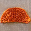 semicircle free crochet tutorial