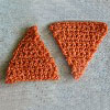 Triangles in Rows free crochet pattern